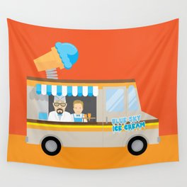 Breaking tradition - Walt and Jesse make ice cream Wall Tapestry