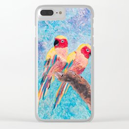 Birds of Colour Clear iPhone Case