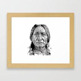 Sitting Bull Portrait Framed Art Print