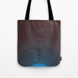 Halftone Blue Star Tote Bag
