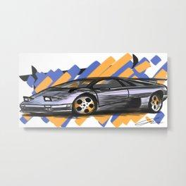 Viva Italia: 1995 Lamborghini Diablo VT Metal Print