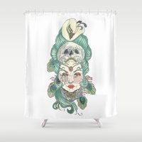 anxiety Shower Curtains featuring Anxiety by Melissa Smets