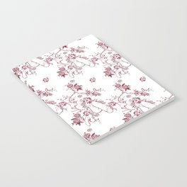 Penis Pattern RED Notebook