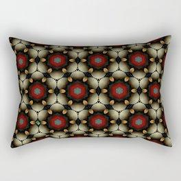 Metallic Deco Little Leaves Rectangular Pillow