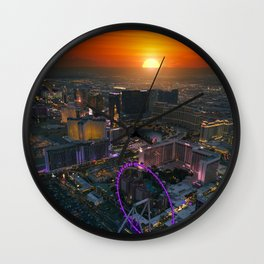 Sunset in Vegas Wall Clock
