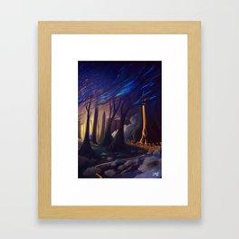 honey fall Framed Art Print