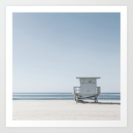 Lifeguard / Santa Monica California Beach Art Print