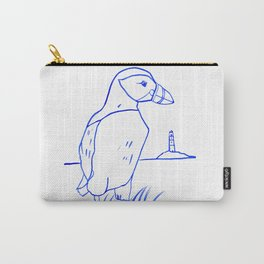 Atlantic Puffin Watercolor Line Drawing Carry-All Pouch