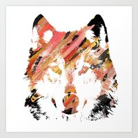 Color Wolf Art Print