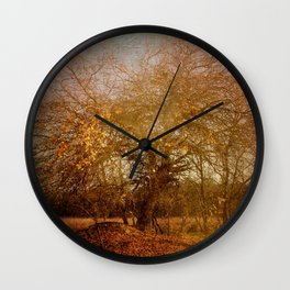 Golden November Wall Clock