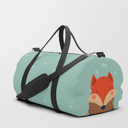 Fox Under Snow in the Christmas Time. Duffle Bag