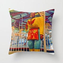 Chieftain sculpture Throw Pillow
