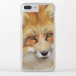 The Red Fox Clear iPhone Case