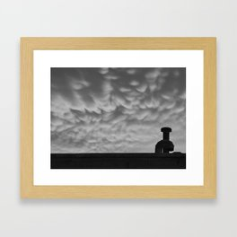 """Mammatus Clouds"" Framed Art Print"