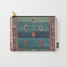 Sivas Antique Turkish Niche Kilim Print Carry-All Pouch