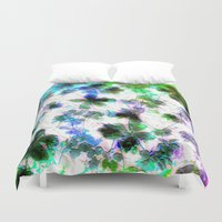 jungle Duvet Covers featuring jungle by Lydia Cheval