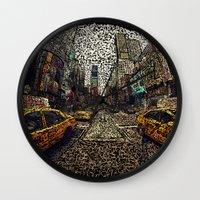 hustle Wall Clocks featuring Hustle by MyattCP