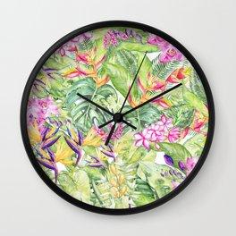Tropical Garden 1A #society6 Wall Clock