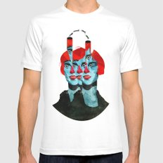 The cats in my head White MEDIUM Mens Fitted Tee