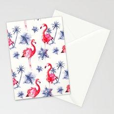 Beach Flamingos Stationery Cards