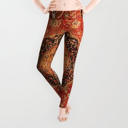 Seley 16th Century Antique Persian Carpet Print Leggings