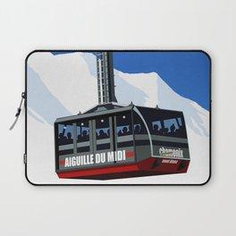 Chamonix Ski Resort , Aiguile du Midi Cable Car Laptop Sleeve