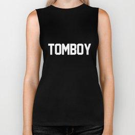 Tomboy Varsity Typography Biker Tank