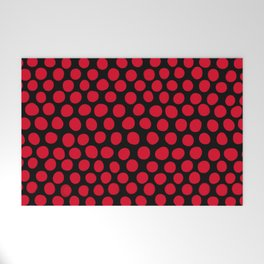 Red Apple Polka Dots Welcome Mat