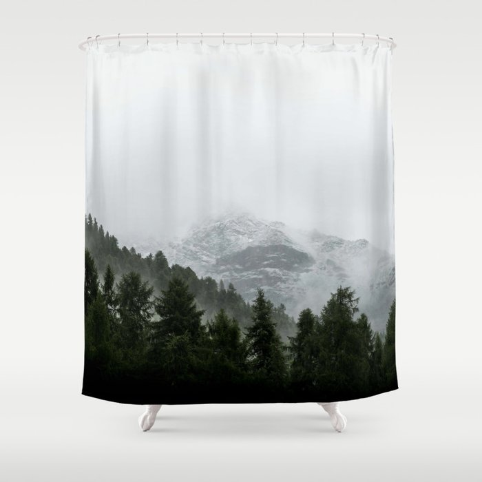 Faded Forest Landscape Shower Curtain
