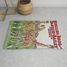 1930's Ringling Brothers & Barnum and Bailey Circus 'Giraffe' Poster Rug