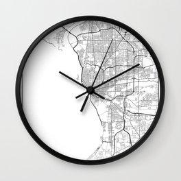 Minimal City Maps - Map Of Buffalo, New York, United States Wall Clock