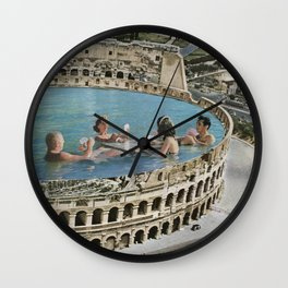 When in Rome Wall Clock