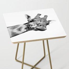 Black and white giraffe Side Table