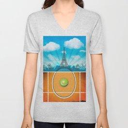 Paris Tennis Unisex V-Neck