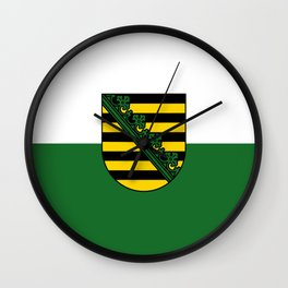 flag of Sachsen (historic state) Wall Clock