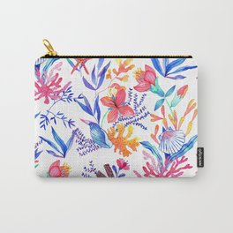 Ocean print pink Carry-All Pouch
