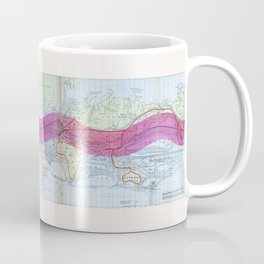 1873 Gilpin Map of the World Coffee Mug