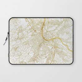 Basel Map Gold Laptop Sleeve