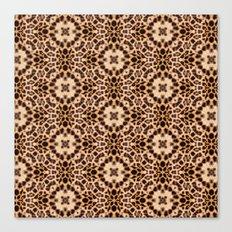 Leopard Kaleidoscope Wild Animal Print Canvas Print