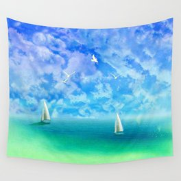 Beautiful Day For Sailing Wall Tapestry