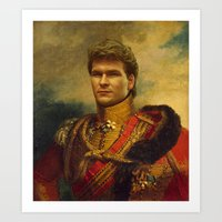patrick Art Prints featuring Patrick Swayze - replaceface by replaceface