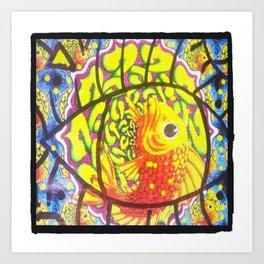 Trippy Fish Art Print