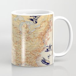 American Military Posts 1944 Coffee Mug