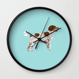 Brittany Spaniel dog breed funny dog fart Wall Clock