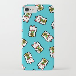 Lucky Cat Pattern iPhone Case