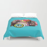 floral Duvet Covers featuring Picture This by Bianca Green