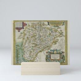 Vintage Map - Ortelius: Theatrum Orbis Terrarum (1606) - Salzburg, Austria Mini Art Print