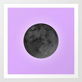 BLACK MOON + LAVENDER SKY Art Print
