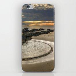 Windy Tarifa beach. Wild swiming pools. iPhone Skin