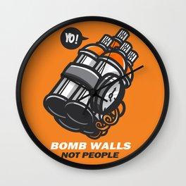 Bomb Walls Not People Wall Clock